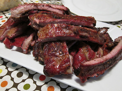 Smoked ribs on the big green egg - Zagers Blog