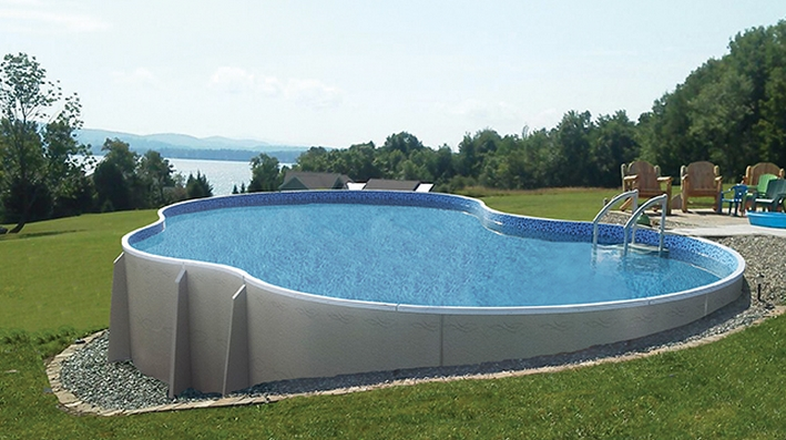 Semi Inground Pools by Radiant at Zagers