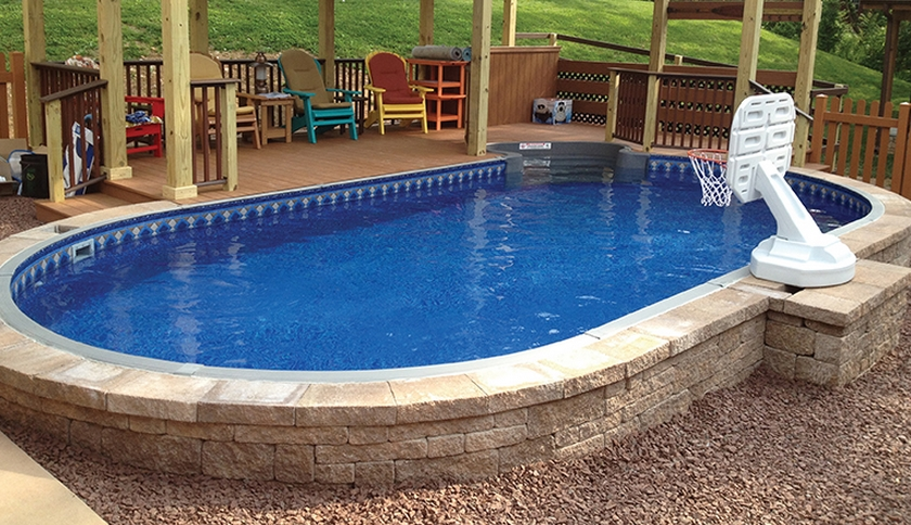 Semi Inground Radiant Pools at Zagers