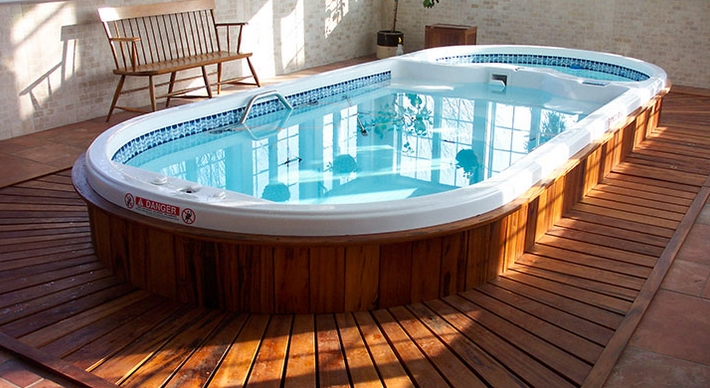 Swim Spas by Dimension One at Zagers Pool and Spa in Grand Rapids and Holland