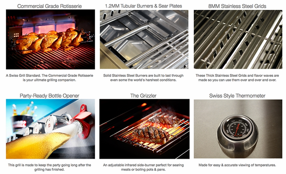 Swiss Grill Features - Dealer in Grand Rapids and Holland Zagers Pool and Spa