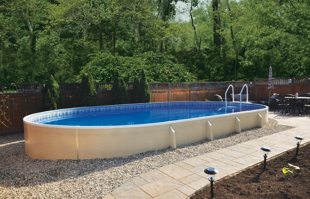 above ground pool with a deep end Zagers