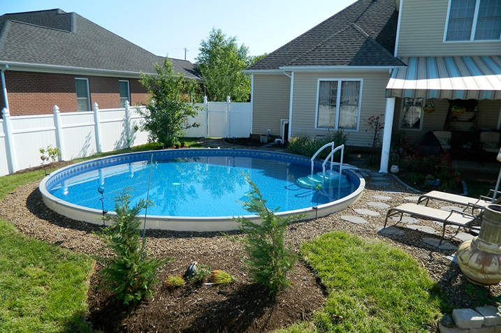 Radiant Pools Semi-Inground Pools by Zagers