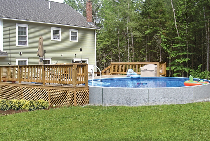 Radiant Semi In-ground Pools by Zagers