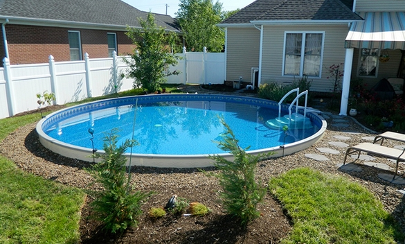 Round Above Ground Pools by Radiant at Zagers of West Michigan