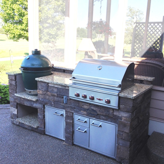 Outdoor Grill Island and Big Green Egg from Zagers Pool & Spa