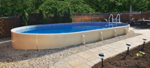 Featuring Dimension One Spa Showcase Outdoor Pool
