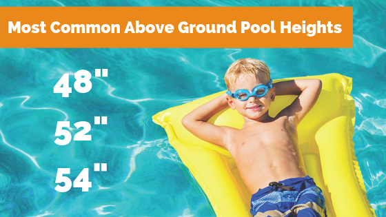 above ground pool depths