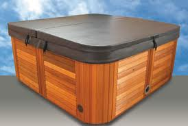 Hot tub with cover