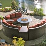 Outdoor circular sofa chat set