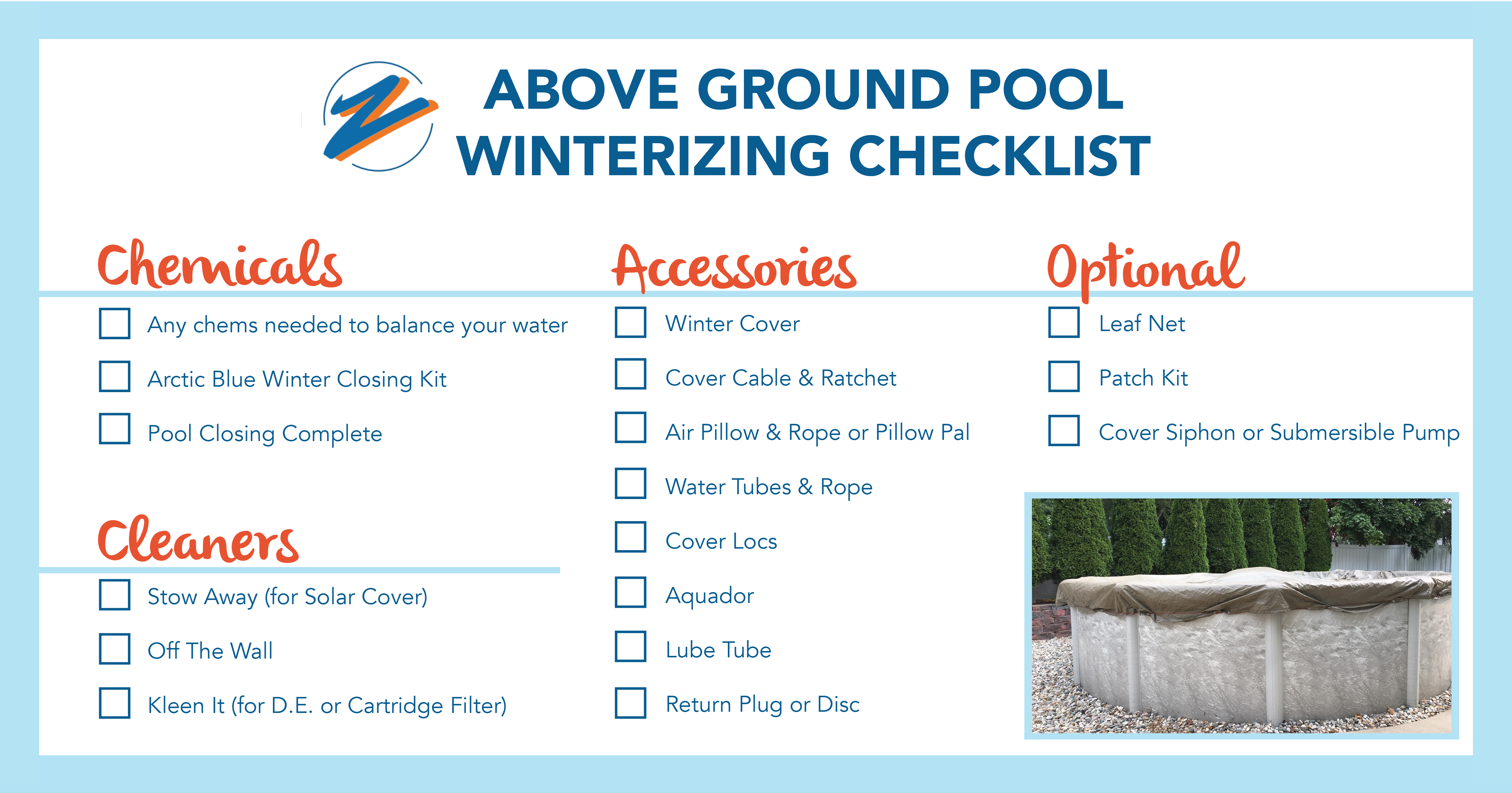 How To Close An Above Ground Pool For Winter Zagers Pool Spa