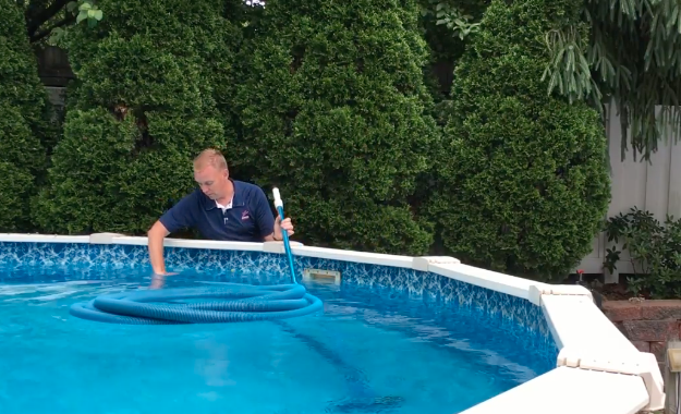 Clear the Vacuum Hose – – How to Vacuum a Doughboy Above Ground Pool