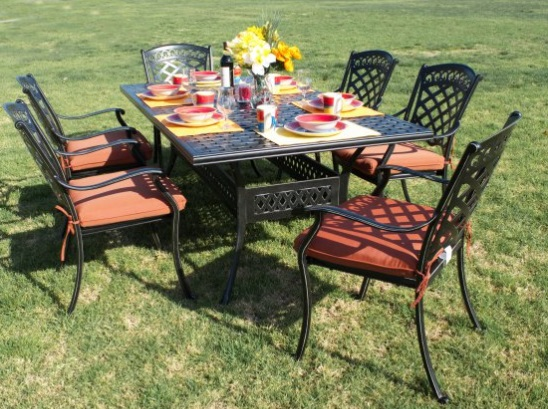 St Tropez 7 Pc Dining Set
