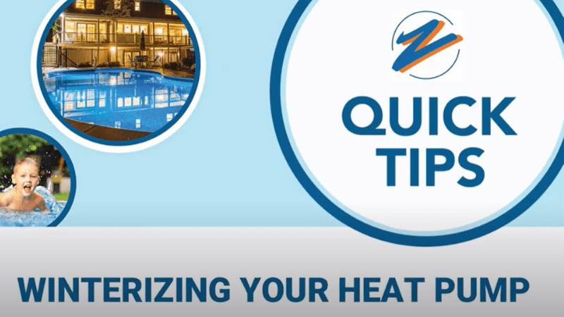 Winterize your heat pump