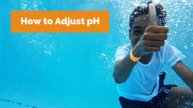 How to adjust pH in a pool